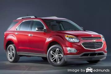 Insurance rates Chevy Equinox in Omaha
