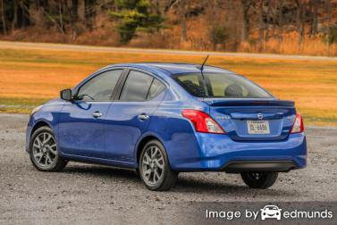 Insurance rates Nissan Versa in Omaha